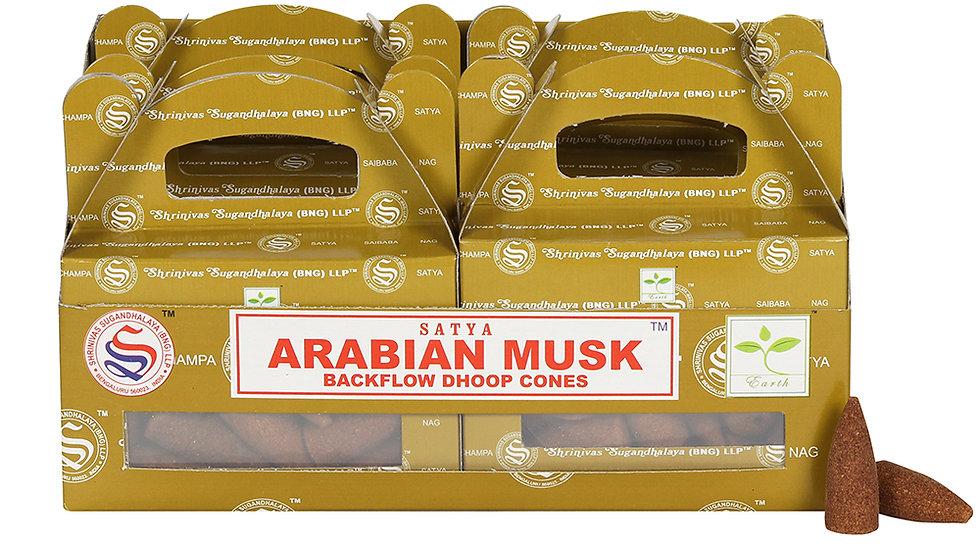 Box of 6 Arabian Musk Backflow Dhoop Cones by Satya