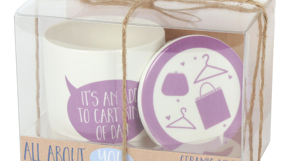 It's an Add to Cart Kind of Day Mug & Coaster Set