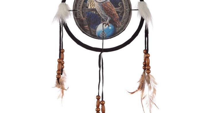 Lisa Parker Barn Owl Dreamcatcher 16cm