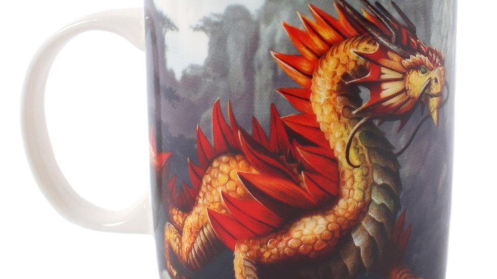 Golden Mountain Dragon Mug