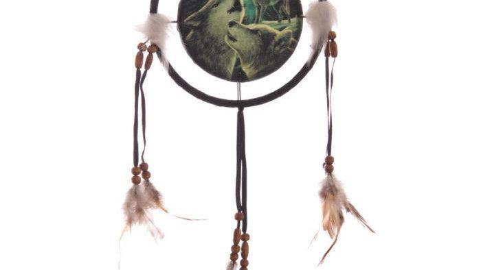 Lisa Parker Wolf Song 16cm Dreamcatcher