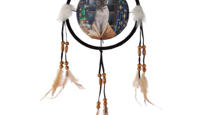 Lisa Parker Hocus Pocus Cat Dreamcatcher 16cm