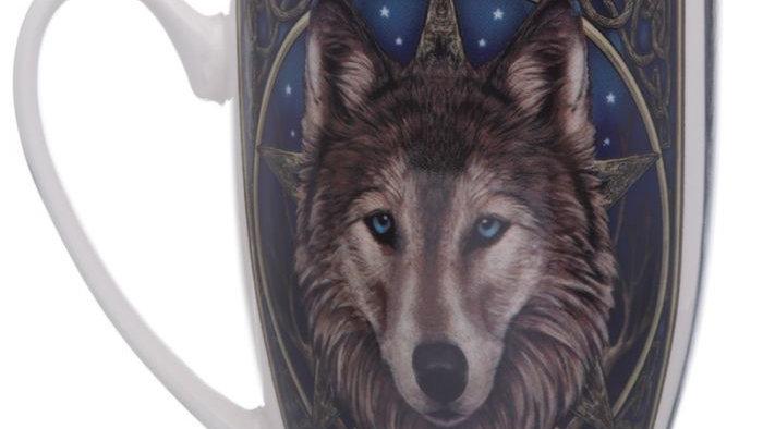 Lisa Parker Wolf Head Porcelain Mug