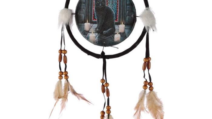 Lisa Parker Sacred Circle Cat Dreamcatcher 16cm