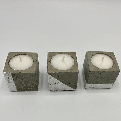 3 Posa velas hormigón colección Vit