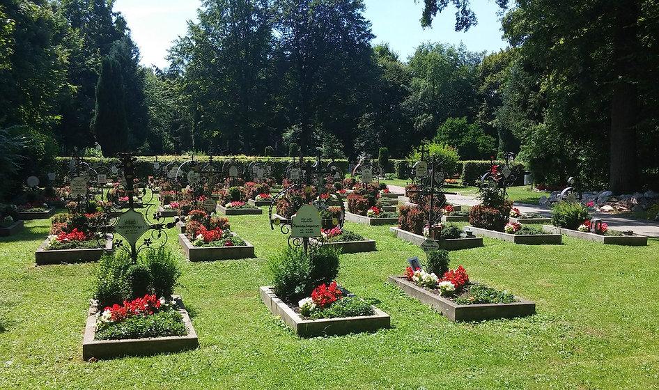 un cimetière vert
