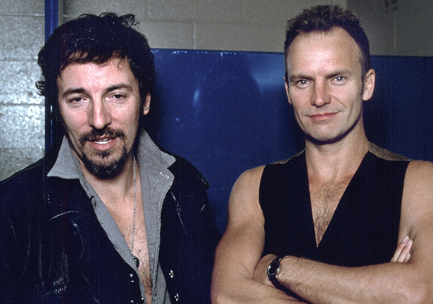 Bruce Springsteen and Sting ©Scott W