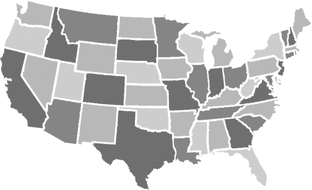 Map Of Sales Representatives | Columbia Aluminum Products