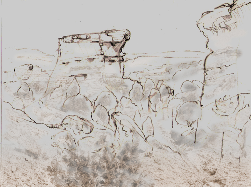Flat Rock Sketch - Force