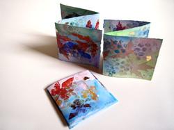 3 Leaf Print Accordion Greeting Cards