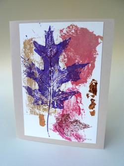 Leaf Print purple