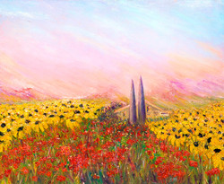Sunflowers and Poppies