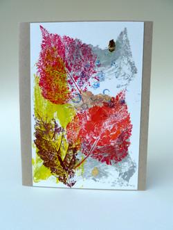 Leaf Print red