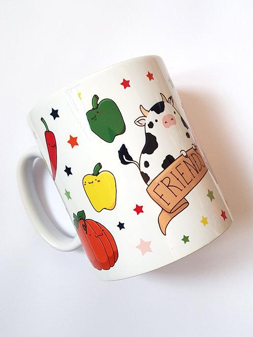 Friends not food mug - seconds