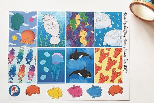 Ocean full box sticker sheet