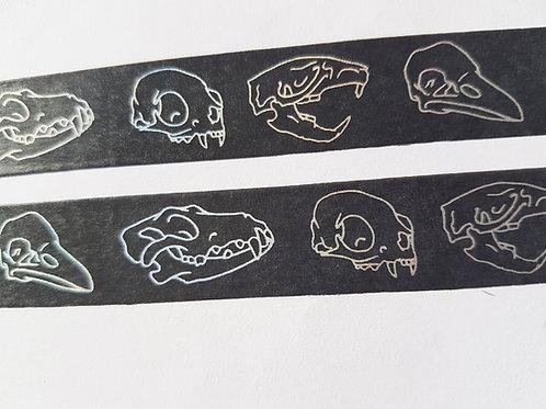 Skull foiled washi tape