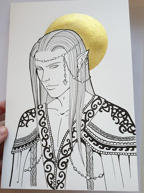 """Black and gold"" original artwork"
