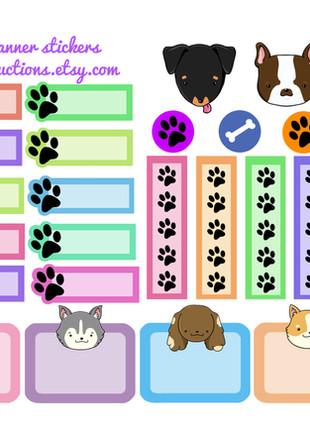 Dog planner sheet