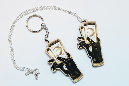 Occult hand necklace or keyring