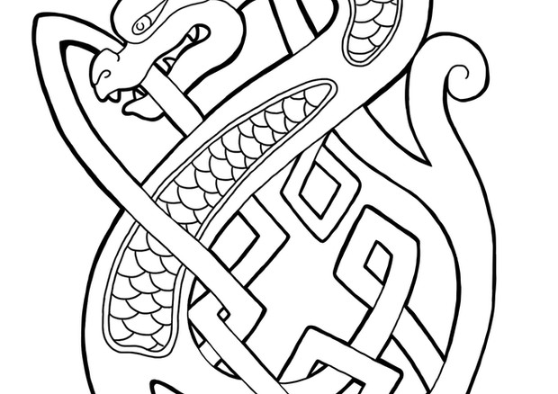Knotted dragon