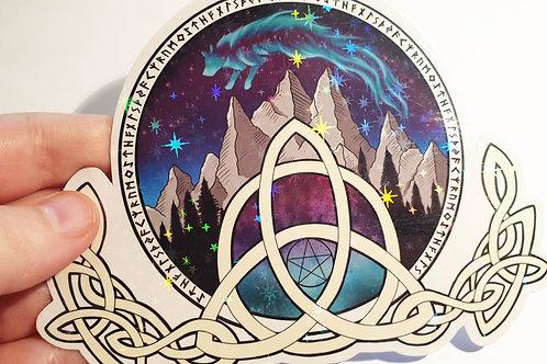 Nordic mountain sticker