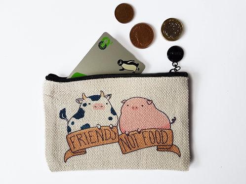 Friends not food coin purse