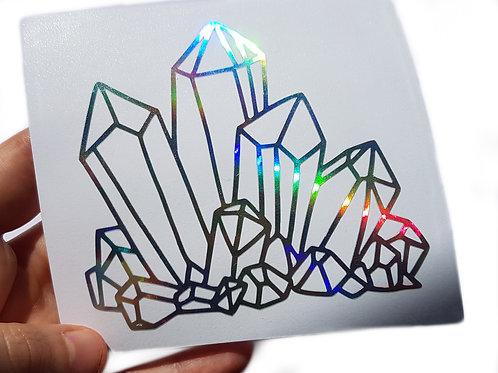Crystal cluster vinyl decal
