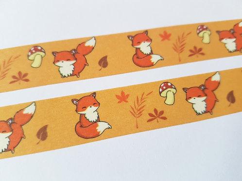 Orange fox washi tape
