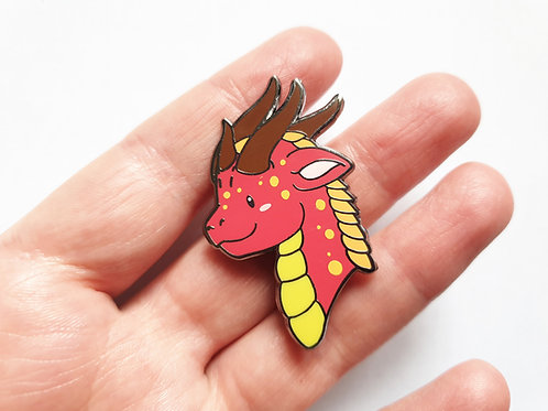 Happy dragon enamel pin