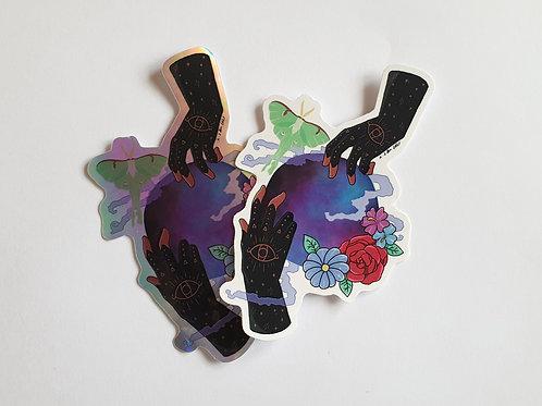 Witch hands vinyl sticker