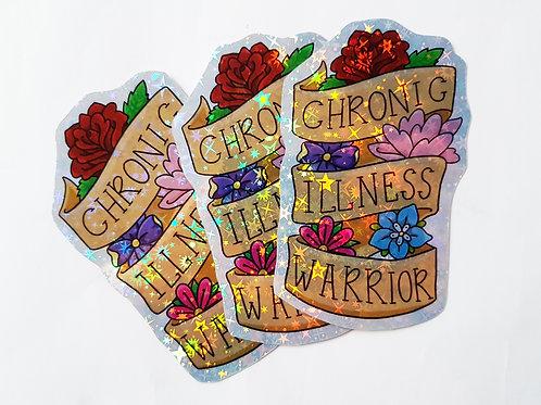 Chronic illness warrior sticker set