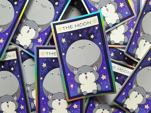 The Moon - holographic vinyl tarot sticker