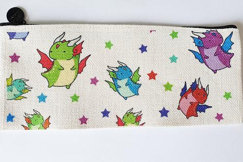 Rainbow dragon pencil case