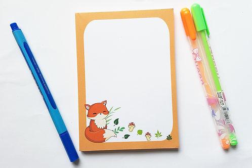 Cute fox notepad