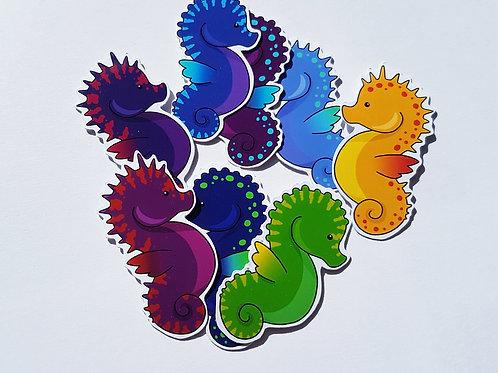 Seahorse sticker set