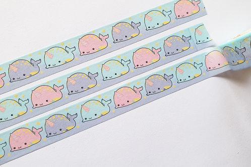 Pastel narwhal washi tape