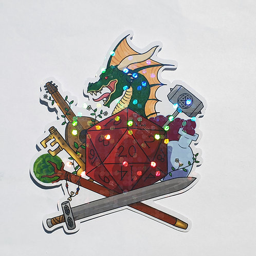 Role playing fantasy game sticker