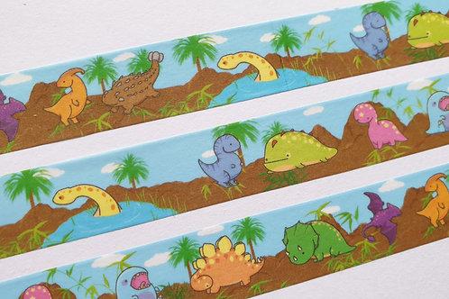 Kawaii dinosaur washi tape