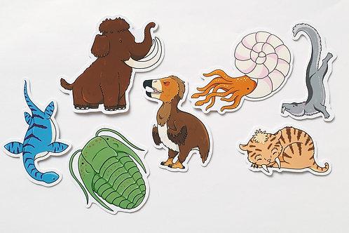 Prehistory sticker set