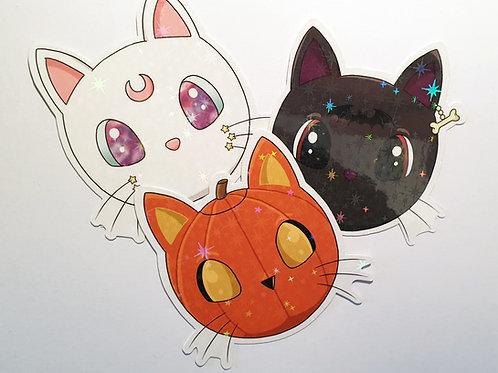Witch kitty stickers