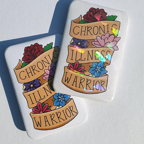 Chronic illness warrior rectangle badge