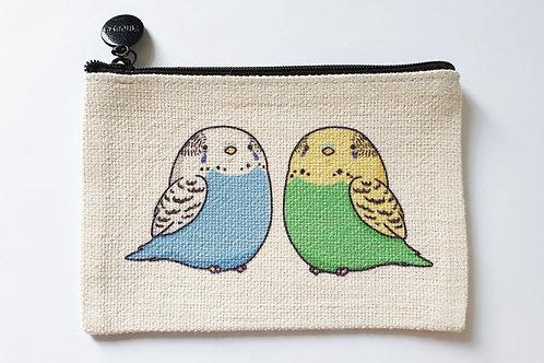 Cute budgie coin purse