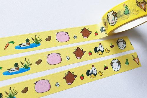 Happy farm washi tape