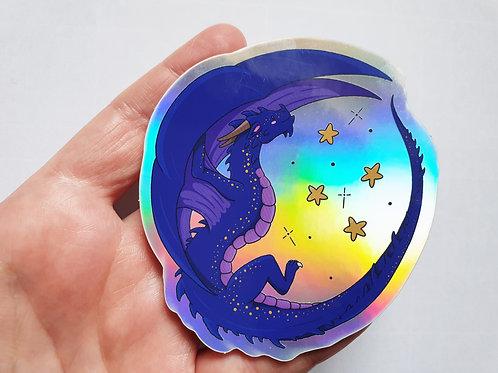 Dragon holographic vinyl sticker