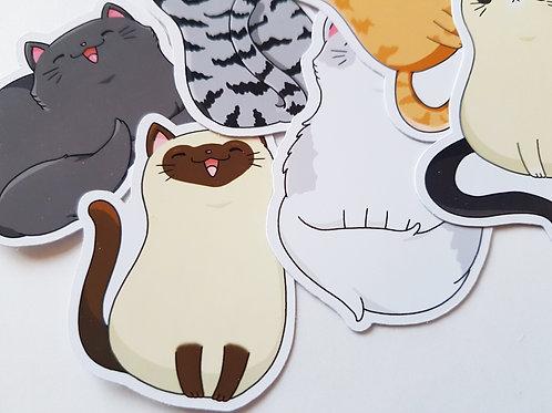 Cute cat sticker set