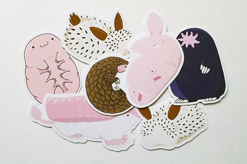 Strange animals sticker pack