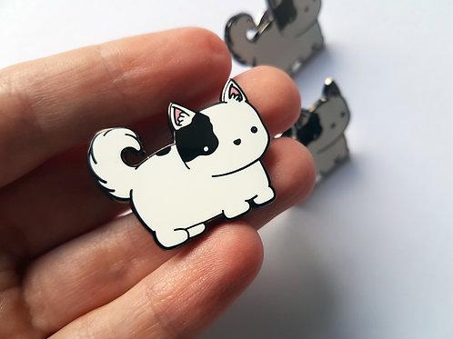 Charity Husky enamel pin