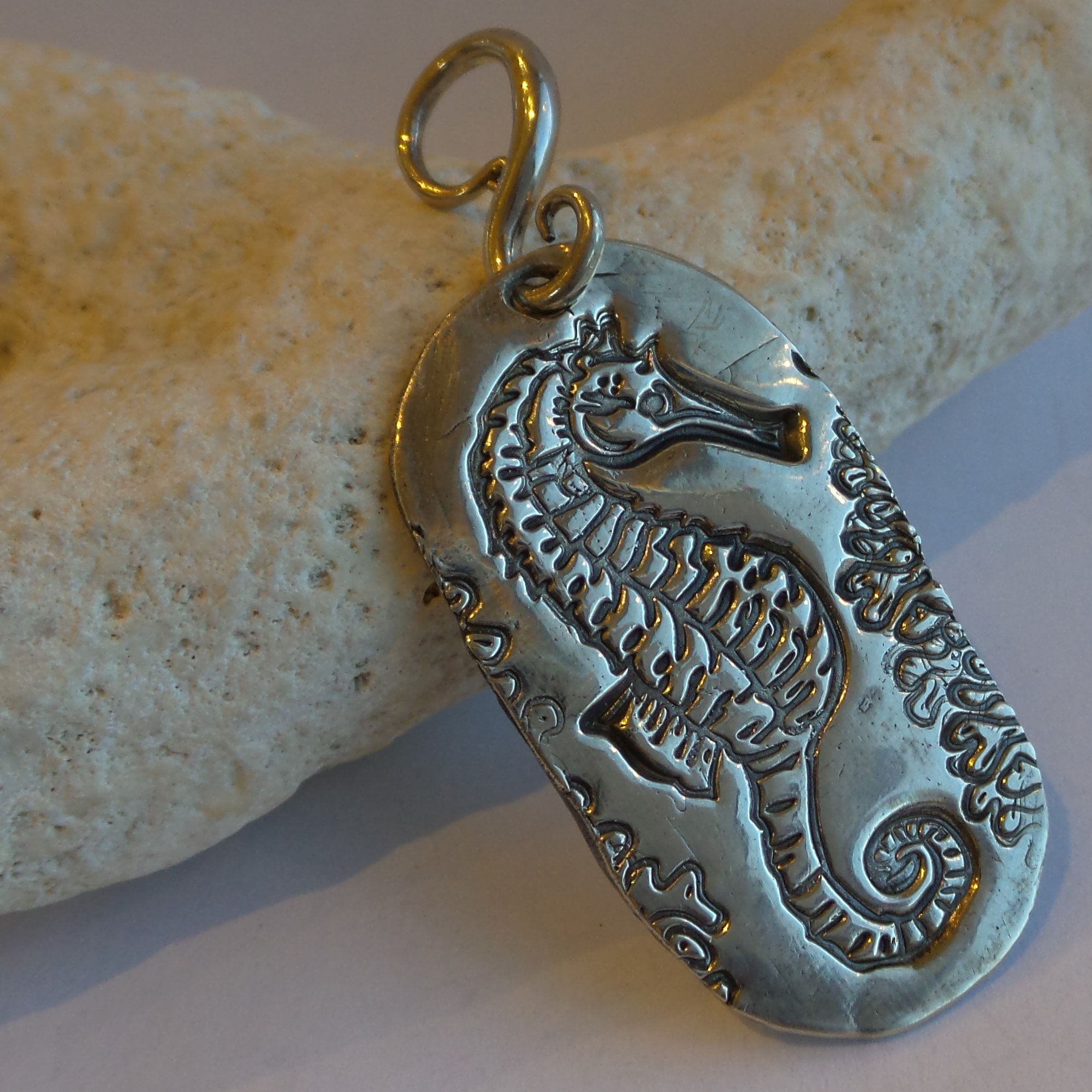 Sterling silver jewelry rowley sunburst trading seahorse this is a beautiful pendant of a seahorse with coral made with fine silver precious metal clay the heavy weight bail is sterling silver mozeypictures Gallery