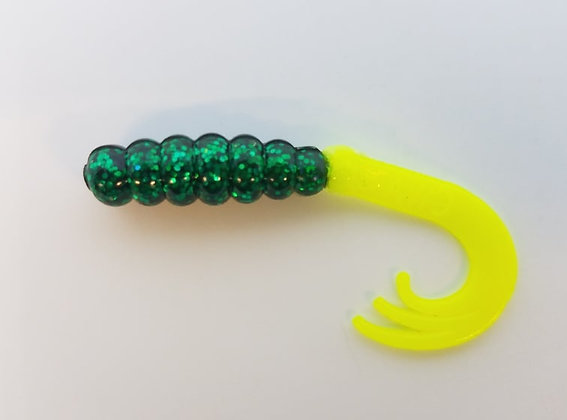 "AWD Baits - 2"" Wow Grubs - WG66 Midnight Green"