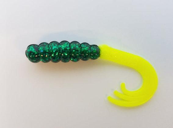 "AWD Baits - 2"" Wow Grubs - WG66 Midnight Green (Bag of 1,000)"